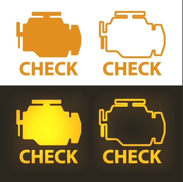Different kinds of engine check lights